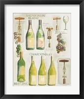 Framed White Wine Collage on White