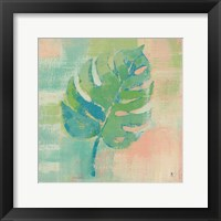 Framed Beach Cove Leaves I