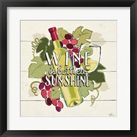 Wine and Friends IV Framed Print