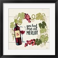 Wine and Friends II Framed Print