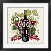 Wine and Friends III Framed Print