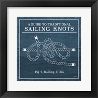 Framed Vintage Sailing Knots VIII