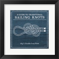 Framed Vintage Sailing Knots V