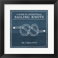 Framed Vintage Sailing Knots IV