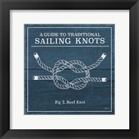 Framed Vintage Sailing Knots III