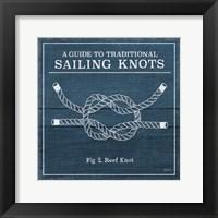 Framed Vintage Sailing Knots III