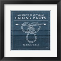Framed Vintage Sailing Knots II