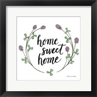 Happy to Bee Home Words I Framed Print