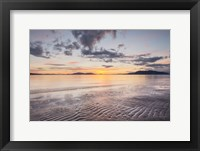Framed Samish Bay Sunset II