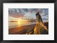 Framed Samish Bay Sunset I