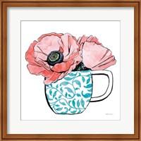 Framed Floral Teacups II