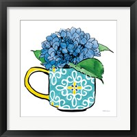 Framed Floral Teacups III