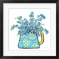 Framed Floral Teacups IV