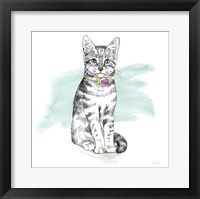 Framed Fancy Cats I Watercolor