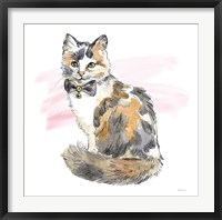 Framed Fancy Cats II Watercolor