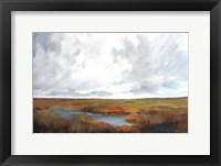 Framed Sunset Over The Marsh