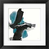 Framed Black and Teal IV