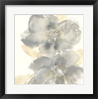 Framed Floral Gray II