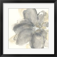 Framed Floral Gray I