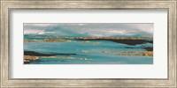 Framed Gilded Storm II Teal Grey Crop