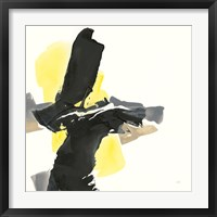 Framed Black and Yellow IV