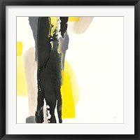 Framed Black and Yellow II