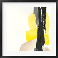 Framed Black and Yellow I