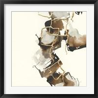 Gold Squares II Framed Print