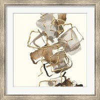 Framed Gold Squares I