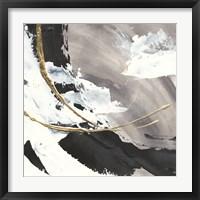 Framed Gilded Arcs I