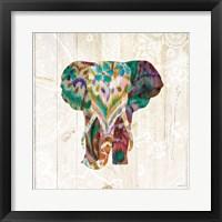 Framed Boho Paisley Elephant III