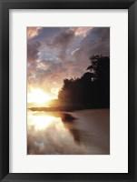 Framed Secret Beach Sunrise III