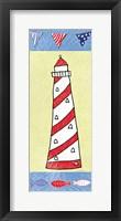 Framed Coastal Lighthouse II