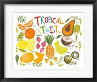 Framed Fruity Smoothie II on White
