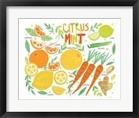 Framed Fruity Smoothie IV on White