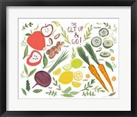 Framed Fruity Smoothie I on White