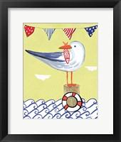 Framed Coastal Bird II