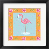 Framed Flamingo Dance IV