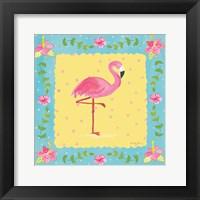 Framed Flamingo Dance I Sq Border
