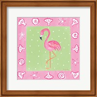 Framed Flamingo Dance II
