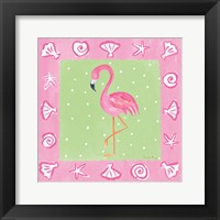 Framed Flamingo Dance II