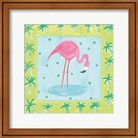 Framed Flamingo Dance III v2