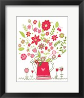 Framed Valentines Flowers III