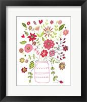 Framed Valentines Flowers II
