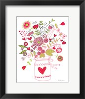Framed Valentines Flowers I