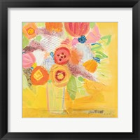 Framed Misty Yellow Floral