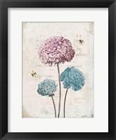 Framed Geranium Study I Pink Flower