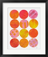 Framed Kitchen Garden Dots I