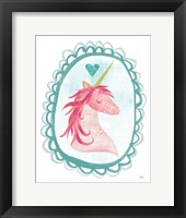 Framed Unicorn Magic I with Border