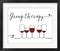 Framed Underlined Wine IX
